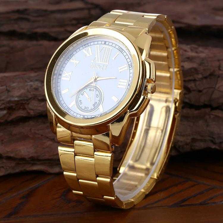 Selling fashionable man Huang Jingang watch quartz watch gift free shipping(China (Mainland))