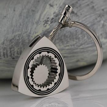 Полированный серебро авто часть треугольник двигатель ротора брелок сеть брелок брелок ...