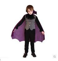 2014 COS Costume Halloween  Costume Dress Purple Robe Vampire Children Play New Characters Holiday Gifts