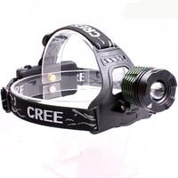 2000 Lumens Waterproof Zoom Headlamp LED 3 Brightness Modes Headlamp Headlight Head Lamp Light for Outdoor Sports Camping Hiking
