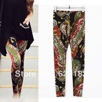 2013 Print High Waist Plus Size Women Leggings M L XL Pants 1Pcs 15043