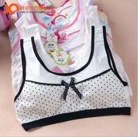 New high elastic puberty girl maiden cotton wireless padded training bra vest underwear