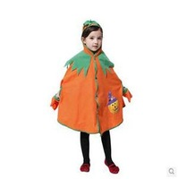 COS Costume Halloween Costume Dress Cute Child Characters Played Cloak Pumpkin Suit Festival Gifts Holiday Dress