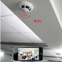 Details Spy Smoke Detector IP Camera  WiFi Wireless Mini Camera Hidden Cam Video Record UFO P2P Child Custody