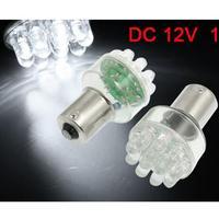 New 2 Pcs Car White 1156 BA15S P21W 12 LED parking Rear Backup Turn Tail Bulb Lamp Light Wholesale free shipping