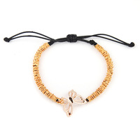 Fashion Personalized 7.5'' Adjustable Shamballa Bracelet Bangles Butterfly Gold Plated Bracelets Arm for Women CA296