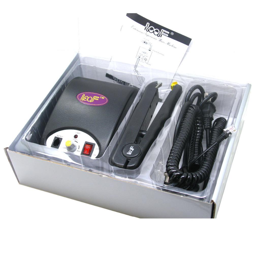 LOOF Supersonic Ware Machine Cold Fusion Ultrasonic Machine Hair Extension Iron Tool EU Plug-Black(China (Mainland))