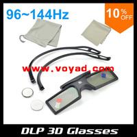 Factory cost DLP 3D Active Shutter Glasses (2pcs/lot) work for all dlp 3d projectorsfree ship