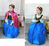 BB053 Free shipping 2014 new summer frozen childrens dress anna dress girls dresses  anna costume baby & kids clothing Retail