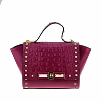 2014 fashion rivet decoration women's one shoulder cross-body bag cowhide women's handbag