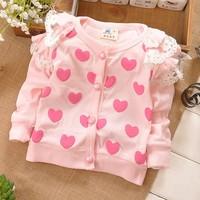 2014 new wholesale 4pcs/lot summer baby long-sleeved coat. The princess coat. 100% cotton coat.Children's coat. Love coat. Free