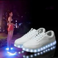 New Simulation Shoes Men/Womens 7 Colors Led Shoes Sapatilhas USB Charge Leather Sneakers Espadrilles