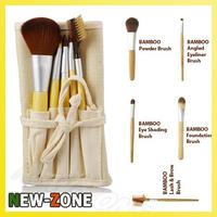 Free Shipping 5 pcs Makeup Brush set Bamboo Brand Brush set Powder Brush Eye Makeup Brush Kit Free Shipping