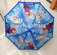 2014 Promotion Semi-automatic Fishing New Frozen Umbrella Student Long-handle for Children Princess Elsa & Anna Hanging 68cm