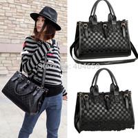 2013 Fashion designer handbag Mng plaid For women's Shoulder/Messenger handbag mango black plaid bucket handbag dimondbrand bag