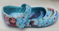 Free shipping High Quality frozen anna and elsa PU Leather shoes flats shoes SNEAKER 6 pairs/lot