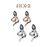 2015 ROXI fashion girls dropwater earrings ,cool snake party earrings , wholesale ,wedding/Christmas gifts,Nickeless jewelry