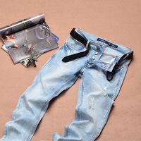 new 2014 fashion famous italian brand jeans men slim pants men hight quality 100 original men's jeans D201