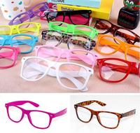 Non-Mainstream Clear Lens Glasses Frame Vintage Student Leopard Print Eyeglasses Men Women Decoration Optical Lens Eye Frame