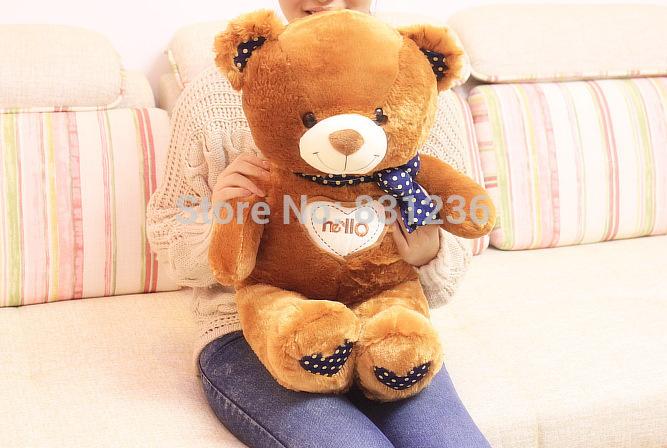 Hello Bear Plush Toy Teddy Bear doll birthday present female pillow(China (Mainland))
