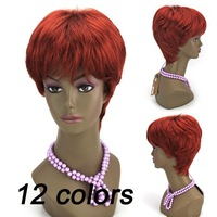 Red Short Women's Fashionable Top Quality Synthetic Hair Cosplay 2014 New Arrival Party Wig Free Shipping Q8892