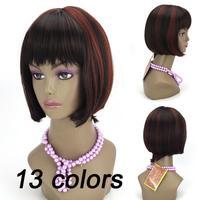 Bobo wig dance party wig model wig fashion Heat Resistant Synthetic Fiber Short Blonde Bobo Wigs for Women Free Shipping E-8472