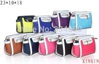 2014 Fashion women handbags brand designer Women's m leather handbag canvas female purse handbag free shipping