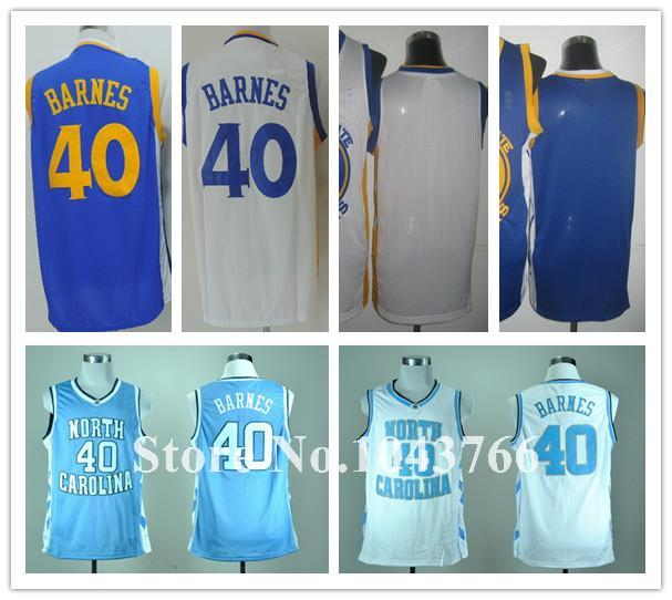 Golden State 40 Harrison Barnes Jersey Blue White Blank College Basketball Harrison Barnes North Carolina Jersey Blue(China (Mainland))