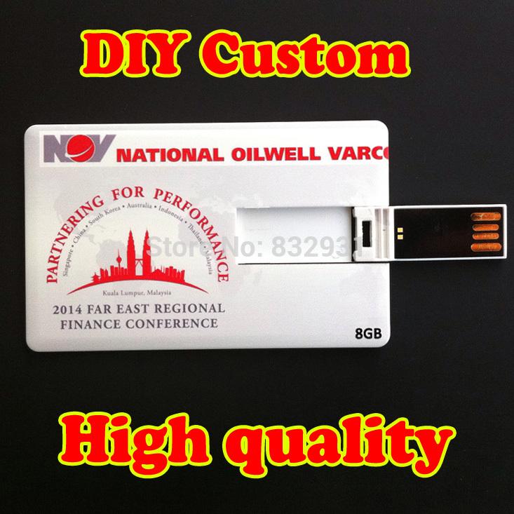 Wholesale 10 PCS/Lot customized credit card usb flash drive DIY Logo Business &holiday gift usb flash drive(China (Mainland))