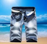 summer new arrival korean men's jeans shorts, famous brand denim men short pants