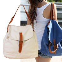 Womens Casual Girls Canvas Satchel Rucksack Schoolbag Bookbag Backpack free shipping