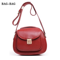 2014 NEW Small Genuine leather Women Messenger bags Candy Color Women shoulder cross body strap Turnlock handbag for girl B386