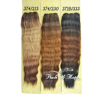 "Ombre Super Wave Hair Weave Three-Tone Color Human Hair Mixed Animal Hair Extensions 14"" 16"" 100g/pc 6Packs/lot 3T1B/230"