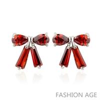 2014 New design Swiss Zircon Stud Earrings ( 4 Colors)  Austrian Crystal top Quality Stud earrings for women (FE-117)