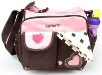 2014 Cute Small Nappy Bags Multi-funtion Baby Diaper Bags Carter's Mom Messenger Bags for Baby Care