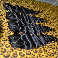 3pcs/lot Peruvian Hair Weaves Deep Wave Black Free Shipping 5A Unprocessed Human Hair Bundles Wholesale Peruvian Virgin Hair
