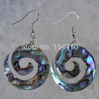 10 Pairs/lot New Fashion New Zealand Abalone Shell Bead Dangle Earrings Bulk Wholesale