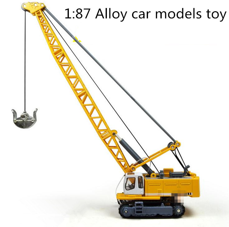 Hot sale !1 : 87 glide alloy construction vehicles toy model,Cable excavator truck model,Free shipping, Baby educational toys(China (Mainland))