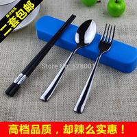 Chopsticks spoon set portable tableware piece set tableware travel fork spoon chopsticks