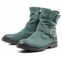 Male Fashion Flat Martin Boots Korean Design Shoes Pointed Toe England Style High Range Genuine Leather Ankle Short Boots