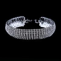 New fashion 2014 brand luxury bracelet crystal jewelry silver-plated bracelets bangles for women pulseras rhinestone bracelet