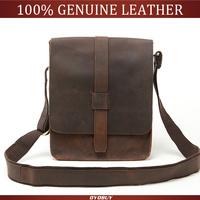 Men Genuine leather Messenger bag vintage leather bags Cool Real Vintage Cow Leather men's Messenger shoulder bag