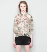 2014 hot new fashion women's T-shirt printing cheap blouses BJ1444