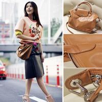 FREE SHIPPING Women's Brand Soft Tote Bags Genuine Leather Top Quality Handbag Shoulder Cross body Bag Lady Dumpling bag
