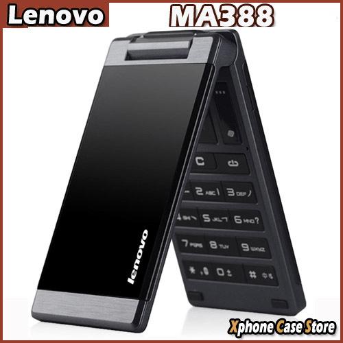 Dual SIM Original Lenovo MA388 Black 3.5inch Business Elders Flip Mobile Phone FM Flashlight Camera Bluetooth GSM Network(China (Mainland))