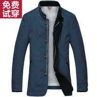 2014 spring  male jacket men's clothing outerwear medium-long thin upperwear business casual