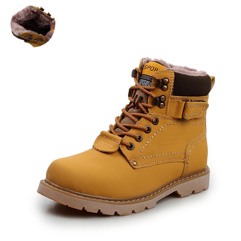 2014 genuina de cuero de piel de invierno de los hombres de martin del tobillo botas de cuero marrón corto botas de plataforma de trabajo de la marca de los hombres de otoño de zapatos botas
