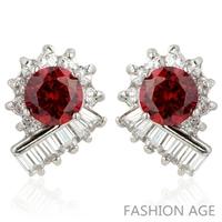 2014 New design Swiss Zircon Stud Earrings exaggerated Austrian Crystal women's top Quality Stud earrings (FE-139)