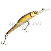 "(STORM) ThunderCrank Madflash Bionic Fishing Bait Gear 3.0"" Gold Chrome Fishing Lure Crank Bait with 2 Treble Hooks HHF-81726"