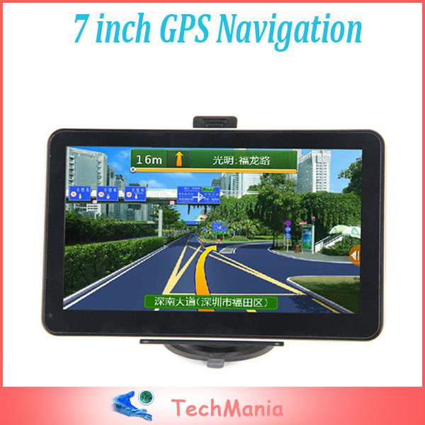 7 pollici di navigazione gps auto navigatore senza bluetooth built- in fm 4gb spedizione gratuita